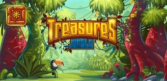 Ilustracja horyzontalny sztandar i ikona dla gry komputerowej royalty ilustracja