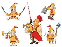 Ilustracja humor kreskówki rycerze ilustracji