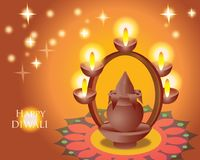Ilustracja indianina Diwali festiwal Obraz Stock