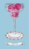Ilustracja jagodowy lody royalty ilustracja
