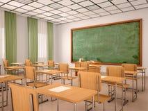 Ilustracja jaskrawa pusta sala lekcyjna dla lekcj Fotografia Royalty Free