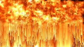 Ilustracja jaskrawy ognisty płomień Fotografia Stock
