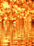 Ilustracja jaskrawy ognisty płomień Fotografia Royalty Free