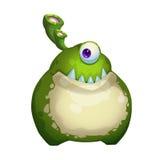 Ilustracja: Jednooki żaba potwór Fotografia Royalty Free