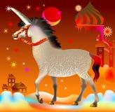 Ilustracja jednorożec w fantazi bajkowej Zdjęcia Royalty Free