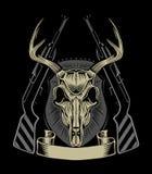 Ilustracja jelenia czaszka Obraz Stock