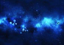 Ilustracja: Jellyfish taniec w Gwiaździstej przestrzeni Zdjęcie Royalty Free