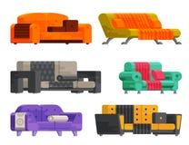 Ilustracja kanapa set Zdjęcie Stock