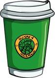 Ilustracja kawa domu takeaway kawa Zdjęcia Stock