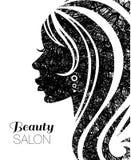 Ilustracja kobieta z pięknym włosy Zdjęcie Stock