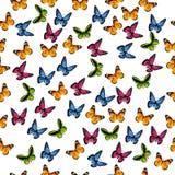 Ilustracja kolorowy motyl Obrazy Royalty Free
