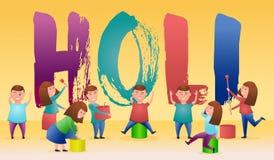 Ilustracja kolorowy Szczęśliwy Holi tło dla festiwalu kolory royalty ilustracja