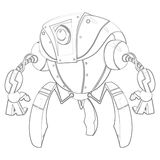 Ilustracja: Kolorystyki książki serie: Robot Miękkiej części cienka linia ilustracja wektor