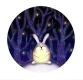 Ilustracja królik w lesie royalty ilustracja