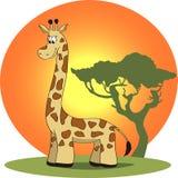 Ilustracja kreskówki żyrafa Zdjęcie Royalty Free