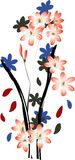 ilustracja kwiat Zdjęcie Stock