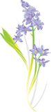 ilustracja kwiat Obraz Stock