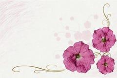 ilustracja kwiat Zdjęcia Stock