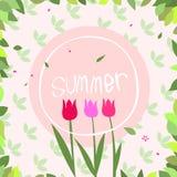 Ilustracja kwiaty Obrazy Royalty Free