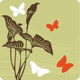ilustracja kwiecista tło Obrazy Royalty Free