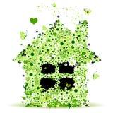 ilustracja kwiecisty domowy wektor Zdjęcia Royalty Free