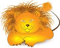 Ilustracja lew kreskówka Obrazy Royalty Free