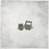 Ilustracja śliczne sowy Zdjęcia Royalty Free