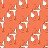 Ilustracja lis Śliczni zwierzęta bezszwowy wzoru Zdjęcie Stock