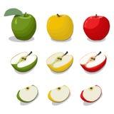 Ilustracja logo dla tematu owocowy Apple Zdjęcie Royalty Free