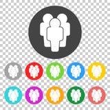Ilustracja ludzie - ikon sylwetki Płaski wektor ilustracja wektor