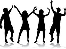 Ilustracja ludzie tanczyć ilustracja wektor