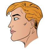Ilustracja mężczyzna kreskówki głowy profilu wzór Fotografia Stock