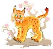 Ilustracja mały ryś Fotografia Royalty Free