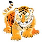 Ilustracja mały tygrys Obrazy Stock