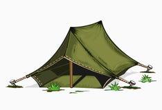 Ilustracja malujący namiot Zdjęcie Stock