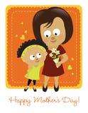 Szczęśliwy matka dzień 2 royalty ilustracja