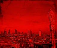 Ilustracja Mediolański pejzaż miejski Fotografia Stock