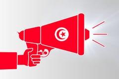 Ilustracja megafonu pistolet z tunezyjczyk flaga royalty ilustracja