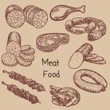 Ilustracja miÄ™sny jedzenie 1 royalty ilustracja