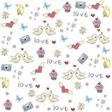 Ilustracja - miłość wzór Obrazy Royalty Free