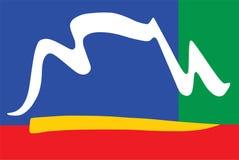 Ilustracja miasto Kapsztad flaga od Południowa Afryka ilustracja wektor