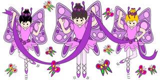 Motyle i baleriny ilustracji