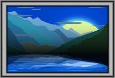 Ilustracja mounties widok przy nocą Obrazy Royalty Free