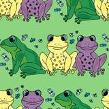 Ilustracja musi być różna niż to Barwione żaby bezszwowy wzoru Fotografia Royalty Free