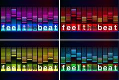 Ilustracja muzyczny wyrównywacza bar w błyszczącym tle Obraz Stock