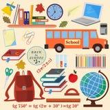 Ilustracja na szkolnym temacie, projekt szkolni tematy i Zdjęcie Royalty Free