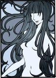 ilustracja nagą dziewczynę ilustracja wektor