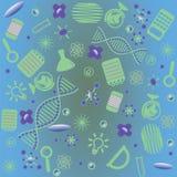 Ilustracja naukowi instrumenty i przedmioty Obrazy Stock