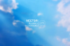Ilustracja niebieskie niebo i chmury Obraz Royalty Free