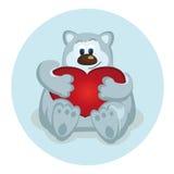 Ilustracja niedźwiedź polarny Zdjęcie Stock